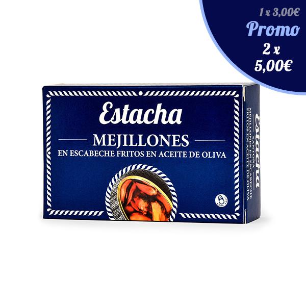 Mejillones en escabeche de Santoña - Conservas Estacha